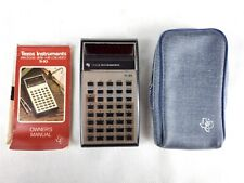 Texas Instruments Ti-30 Electronic Slide Rule Calculator with Case and Manual