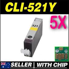 5x Yellow Ink for Canon CLI521 CLI-521Y iP3600 iP4600 iP4700 MP540 MP550 MP560