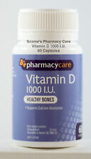 Pharmacy Care Vitamin D 1000 I.U. 60 Capsules Sigma Amcal similar to Ostelin