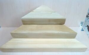 🇬🇧 Corner shelves ~ Sets of 3 or 6 ~ Small Medium & Large ~ Unstained Natural