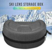 EVA Snow Ski Eyewear Case Skiing Goggles Sunglasses Box Carrying Hard Case W5M6