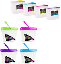 Plastic food containers with lids 4 big small food container set flip lid lock