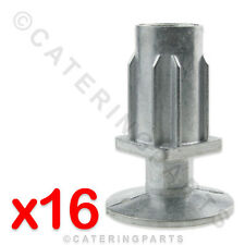 16 x 30mm SQUARE TABLE LEGS / ADJUSTABLE FOOT INSERTS FOR CATERING APPLIANCES