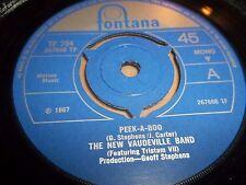 "El nuevo vodevil banda ""Peek-a-boo"" 7"" Single Fontana 1967 Excelente"