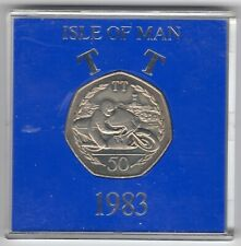More details for 1983 50p coin iom isle of man tt ron haslem aa fifty pence in capsule iom237