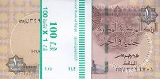 EGYPT 1 EGP 2017 P-50 NEW SIG/ T.AMER #23 LOT X100 UNC NOTES ( one bundle )