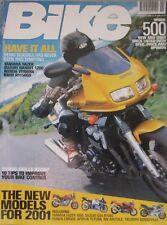 Bike magazine 11/2000 featuring Yamaha, Honda, Suzuki, BMW, Aprilia