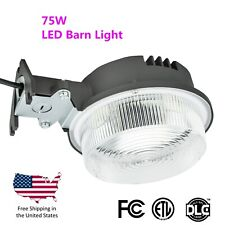 75W LED Dusk to Dawn Barn Street Shoebox Pole Outdoor Security Light -Wall Mount