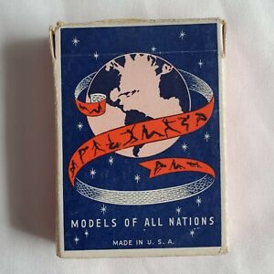 Vintage Deck of Playing Cards; Models of All Nations Complete in box, nude girls