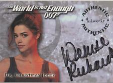 Denise Richards 1999 Inkworks 007 autograph auto card A1