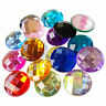 25mm Round Flatback Acrylic Crystal Rhinestone Embellishment Gem Decoden Jewels