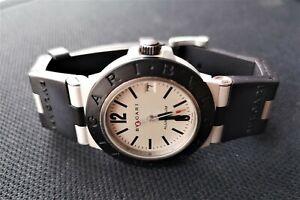 Men's BVLGARI Diagono Aluminum AL38TA Automatic Watch 38mm Cal B220 ETA 2892-A2