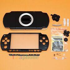 BRAND NEW FULL HOUSING OUTER LENS+BUTTON SET +SCREW SET FOR SONY PSP 2000 BLACK