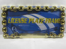CHAIN LINK METAL LICENSE PLATE FRAME GOLD NEW L414