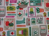 Clarke and Clarke Gardening Spring Curtain Craft Upholstery Fabric