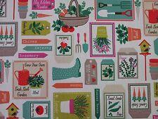 Clarke Et Clarke Jardinage Printemps Rideau Tissu d'Ameublement Craft