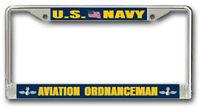 Navy Aviation Ordnanceman AO License Frame  - American Made - Veteran Approved!