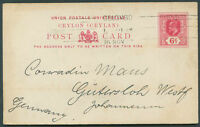 BRITISH CEYLON TO GERMANY Postal Stationery 1912 VF