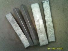 5 Vintage Nickelite Ingot Babbitt Bars 2.5 pounds each (A)
