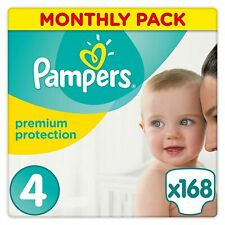 Pampers 81561732 Premium Protection  Size 4 Nappies - 168 Pieces