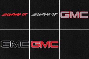 NEW! Black Carpet Floor Mats 1982 - 2004 GMC S15 Sonoma Pick Logo