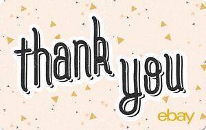 eBay Digital Gift card - Thank You - Peach $25 $50 $100 or $200 - Email Delivery