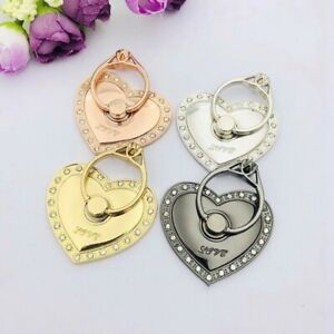 Universal 360 Rotating Finger Ring Stand Holder For Cell Phone -  HEART of LOVE