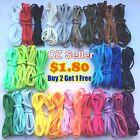 OZ Shoelaces Colorful Coloured Flat Fat Round Bootlace Sneaker shoe laces 120cm