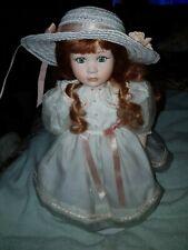Alberon porcelain doll long red hair