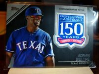 2019 Topps Series 2 ADRIAN BELTRE 150 Years COMMEMORATIVE PATCH Card #AMP-AB