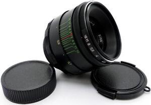 ⭐MINT⭐ Virtually NEW! HELIOS 44-2 58mm f/2 Lens +Adapt. Fuji Fujifilm X Mount FX