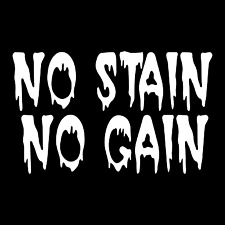 No Stain No Gain Funny Adult Car Truck Window Wall Laptop Vinyl Decal Sticker.