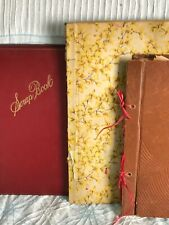 Vintage Lot Of 3, 1930's And 1950's Used Scrap Books Empty. Photo Album.