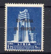 FRANCOBOLLI 1937 LIBIA L. 1,25 CON DECALCO SOPRASTAMPA MNH D/9684