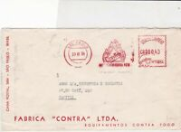 brasil 1954 fire products stamps cover ref 20554
