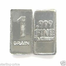 1 Troy Grain PLATINUM Bullion Bar Pure.999 Fine Platinum Mini Bar FREE USA SHIP
