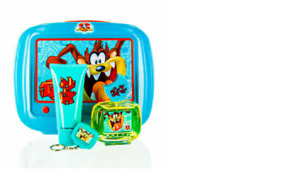 CS LOONEY TUNES TAZ FIRST AMERICAN BRANDS SET IN BLUE TIN LUNCH BOX