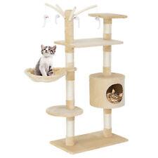[en.casa] Rascador para gatos diseño crema árbol escalador para arañar sisal XL