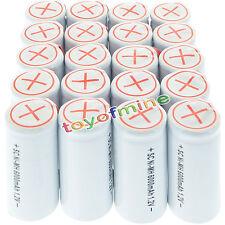 20x SubC Avec Tab 6000mAh 1.2V batterie Ni-MH rechargeable Blanc haute puissance