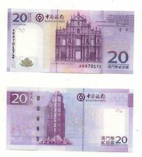 Macau 2008 BOC Bank of China 20 Patacas Banknote Church UNC