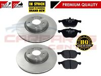 FOR FORD FOCUS MK2 C-MAX 2003- FRONT BRAKE DISC DISCS PAD PADS SET 300mm