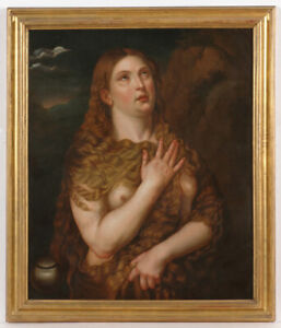 """Tizian's Maria Magdalena"", 17th Century Copy, Oil on Canvas"