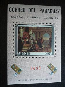 Stamps - Paraguay - Scott# 1040 - Souvenir Sheet