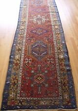 3' X 12'   Decorative Antique Heriz Hand-Knotted 100% Wool Oriental Rug