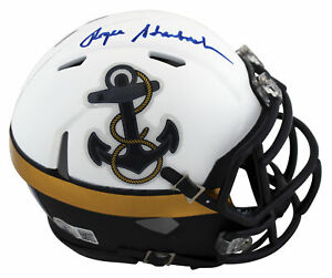 Navy Roger Staubach Authentic Signed 2012 Speed Special Mini Helmet BAS Witness