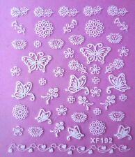 Glitter Butterfly Floral Cherry Blossom Bird Nest Wedding Nail Stickers XF192