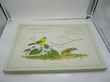 1971 Songbirds of America Chuck Ripper Placemat Set in Box
