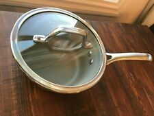 Calphalon Williams Sonoma Sauce Pan Lid: Glass with Silver Edge and Handle