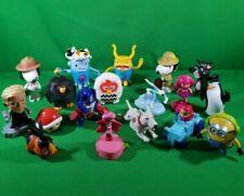 Fast Food Lot Of 18 Random Plastic Toy Figures- Snoopy, Minions, Mario, Furby