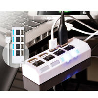 USB Port 2.0 High Speed 4 Hub PC Laptop Desktop Notebook Computer Mac Tech New